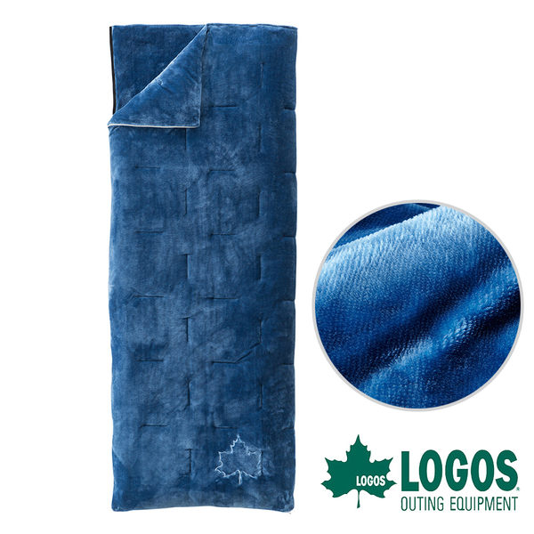【日本LOGOS】SOFT丸洗睡袋2℃ 露營 居家 中空纖維 法蘭絨 可機洗 信封型 72600580