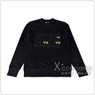 adidas Y-3經典文字LOGO棉質長袖T恤(黑)