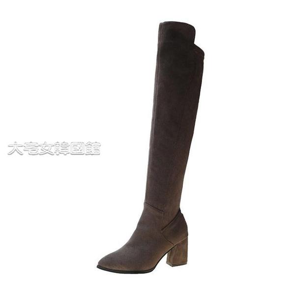 膝上靴女不掉筒過膝長靴女冬外穿瘦瘦靴彈力過膝靴高筒長筒靴sw靴子女 快速出貨