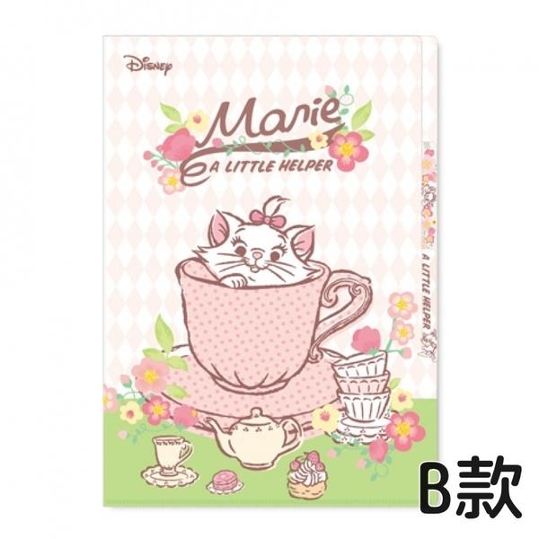 迪士尼 3層L型夾 L型資料夾 櫻花版 瑪莉貓 1160【金玉堂文具】