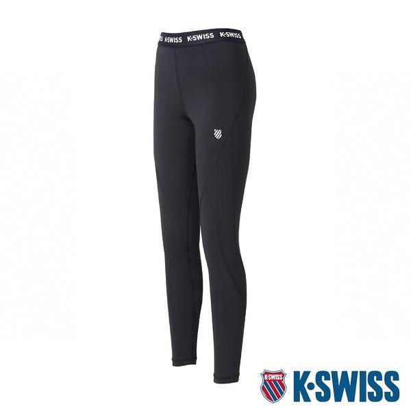 【超取】K-SWISS KS Elastic Band Legging運動內搭褲-女-黑