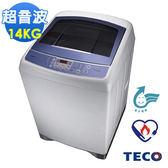 【福利品】TECO東元 14公斤靜音變頻超音波洗衣機W1491XW