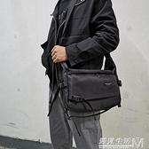 男士工裝側背包防水尼龍布單肩包學生休閒書包大容量郵差包潮