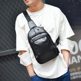 男士胸包新款休閒胸包男韓版腰包皮質小包包男士斜挎包單肩包運動背包潮包