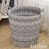 洗衣籃大號塑料編織筐浴室收納籃玩具臟衣服收納筐臟衣簍籃 XY6058【KIKIKOKO】TW