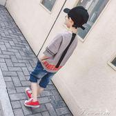男童T恤 童裝男童夏裝兒童寬鬆短袖t恤中大童夏季韓版潮男孩體恤上衣  提拉米蘇