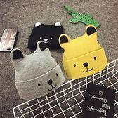兒童冬帽 嬰兒帽子0-3-6-12個月秋冬男女新生寶寶帽子1-2歲兒童毛線帽保暖 歐歐