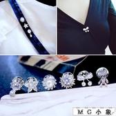 MG 鋯石迷你小胸針防走光衣領領針扣