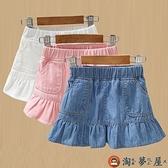 女童牛仔裙兒童短裙寶寶半身裙時尚百搭夏季【淘夢屋】