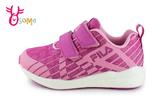 FILA 運動鞋 女童 夜光系列 輕量慢跑鞋 O7634#粉紫◆OSOME奧森鞋業