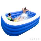 充氣泳池 兒童充氣游泳池超大號成人加厚家庭嬰兒游泳桶家用游池 df12650【大尺碼女王】