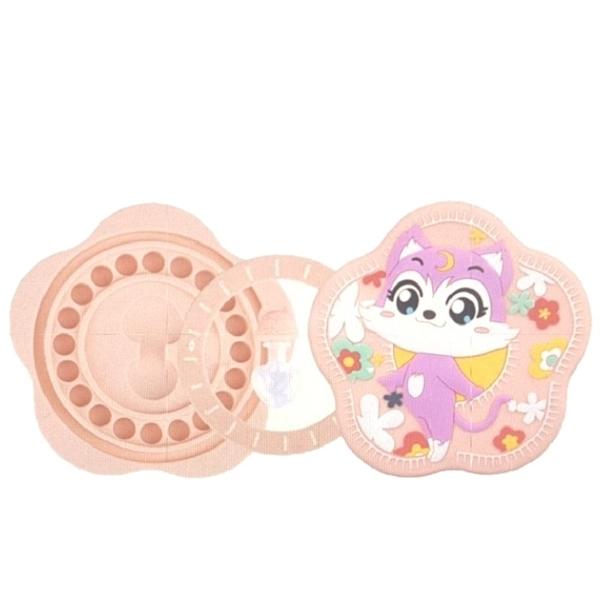 [9美國直購] 防水乳牙紀念盒 RYH-NEW Tooth Fairy Box, Silicone Material Tooth Storage/Saver Box 粉紅色