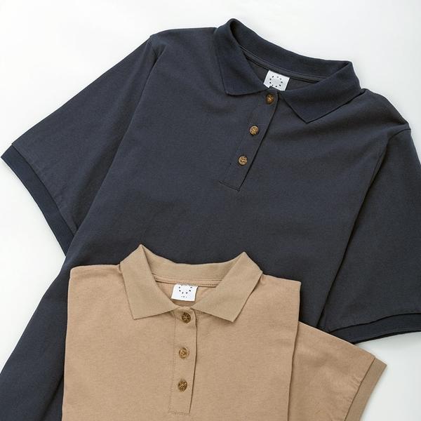 Queen Shop【01085095】POLO領素面長版洋裝 兩色售*現+預*