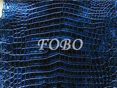 真鱷魚皮 淡水鱷 尼羅鱷 鱷魚肚皮 復古金屬藍 很適合做沛納海 海洋藍 鱷魚錶帶