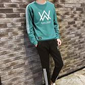 衛衣套裝男青少年衣服男士秋季韓版潮流帥氣一套休閒運動服兩件套 QQ18468『MG大尺碼』
