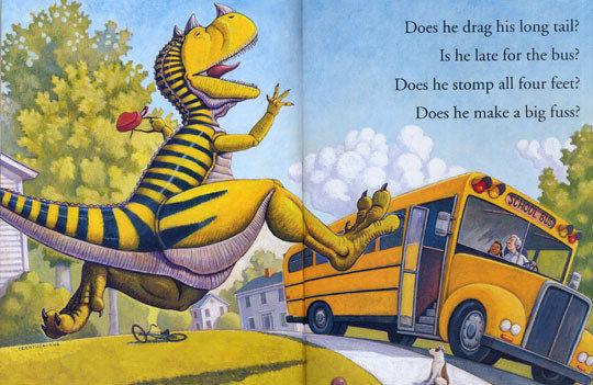 『繪本123‧吳敏蘭老師書單』-- HOW DO DINOSAURS GO TO SCHOOL /英文繪本
