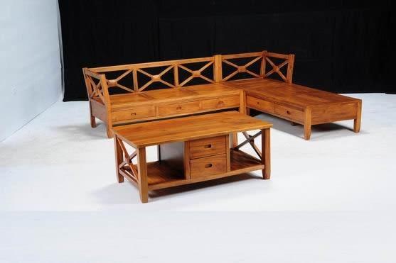 【新精品】KL-18 柚木L型XO組椅 需搭配車趟費