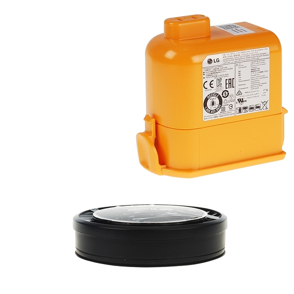 【LG耗材】A9K電池+黑色HEPA濾網 優惠組合