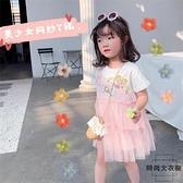 美少女網紗裙夏季女童寶寶純棉短袖公主連身裙 可愛洋氣【時尚大衣櫥】