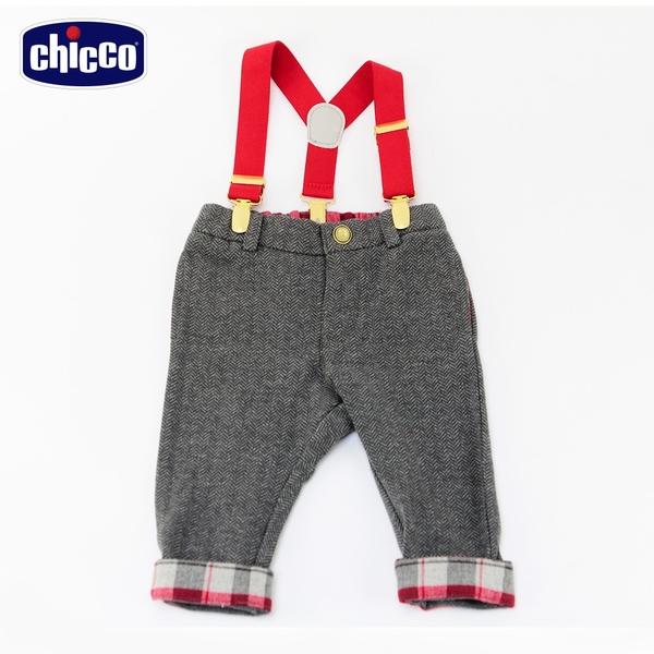 chicco-皇家俱樂部-山形紋活動吊帶長褲