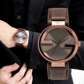 GUCCI Interlocking G 尊爵紳士雙G皮革腕錶 YA133207 熱賣中!