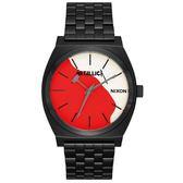 【萬年鐘錶】NIXON METALLICA 重金屬 電音派對 聯名款 不鏽鋼  防水百米 37mm A045-3102