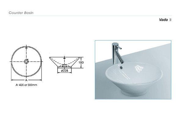 【麗室衛浴】英國陶瓷-IMPERIAL品牌 Imperial ware   圓形檯上盆 131140   (現貨供應)