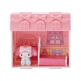 小禮堂 美樂蒂 迷你公仔娃娃屋 (粉色款) 4550337-81099