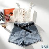 性感小吊帶背心女2020夏裝新款韓版單排扣內搭修身短款打底衫 EY11169 【野之旅】