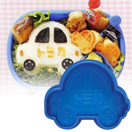 小禮堂 TOMICA小汽車 日製 車子造型飯糰壓模 便當模具 DIY飯糰模 (藍) 4973307-11167