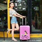 行李箱ins網紅拉桿箱女小型20寸輕便韓版學生個性可愛卡通旅行箱 LannaS YTL