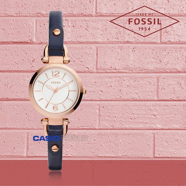 FOSSIL 手錶 專賣店 ES4026 女錶 石英錶 皮革錶帶 防水 強化玻璃鏡面  全新品 保固一年 開發票