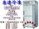 瑞興急速冷凍庫/立式不銹鋼超低溫凍庫/530L急速冷凍/不銹鋼自動除霜超低溫櫃/雙門不銹鋼凍庫/