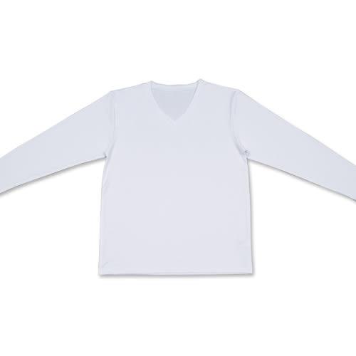 台塑生醫Dr's Formula 遠紅外線科技發熱衣(男款V領-白色)
