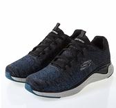 SKECHERS系列-SOLAR FUSE 男款深藍黑色運動慢跑鞋-NO.52758SLT