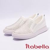 ★2017春夏新品★itabella.造型格紋排鑽休閒鞋(7231-18白)