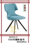 【全德原木】767211-3   F331PZ餐椅-有2色可選(藍色、灰色)             北歐風-工業風-鄉村風