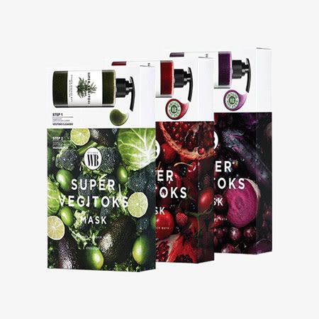 韓國 Wonder bath 超級蔬果面膜精華二部曲 (6入/盒) 清潔 卸妝 洗臉 清潔面膜 面膜