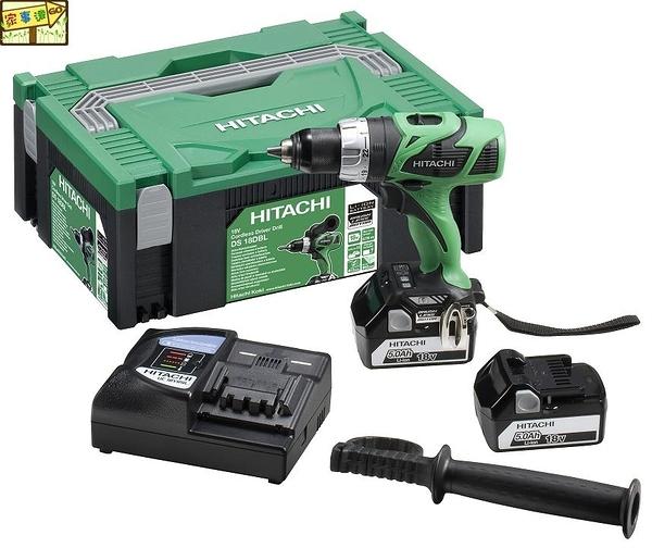 [ 家事達 ]HITACHI- \t  DS18DBL  日立 充電式起子電鑽-18V   特價 雙電池3.0AH×2