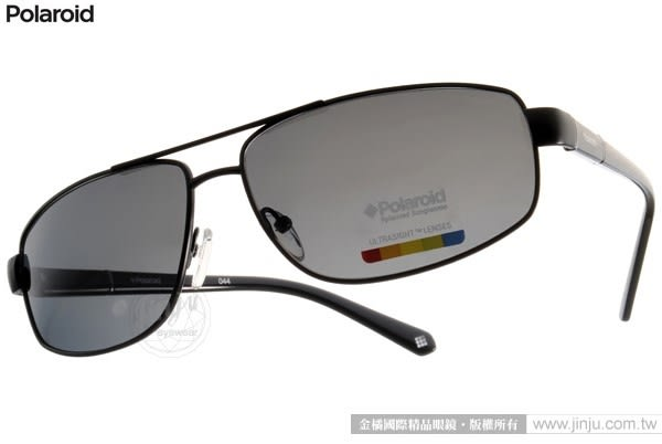 Polaroid 太陽眼鏡 PDA4407A KIH (黑) 開車專用偏光防眩時尚新選擇 # 金橘眼鏡