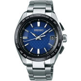 SEIKO BRIGHTZ 鈦金屬太陽能電波腕錶-藍/40mm 7B27-0AC0B(SAGZ089J)