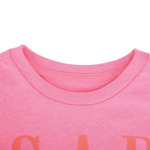 Gap女幼活力徽標款上衣540109-螢光粉