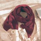 MUMU【A32179】基本百搭純色柔暖圍巾。六色