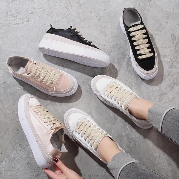 內增高小白鞋女秋季新款韓版百搭鬆糕單鞋女