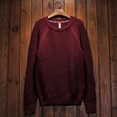 毛衣圓領針織衫-羊毛百搭復古加厚格子新款男上衣4色72k3【巴黎精品】
