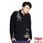 【BOBSON】男款繡花印圖合身長袖上衣(33046-88)