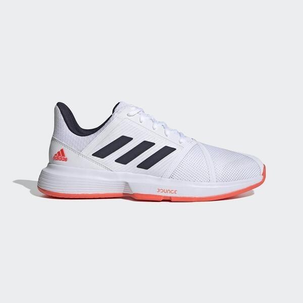 Adidas Others Courtjam Bounce M [FU8102] 男鞋 運動 網球 透氣 愛迪達 白 橘