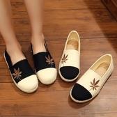 韓版小白鞋女休閒鞋老北京繡花鞋拼色平底布鞋單鞋