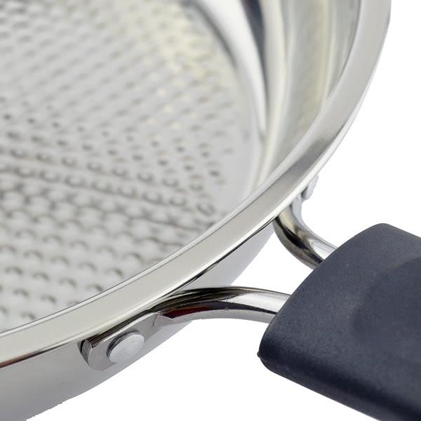 瑪露塔蜂巢式三層不鏽鋼平煎鍋/炒鍋/煎鍋(無蓋) 26cm