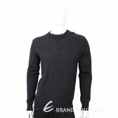 TRUSSARDI 混色領口細節深灰針織羊毛衫 1710635-11